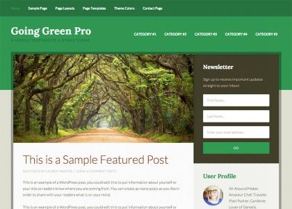 Going Green Pro Theme